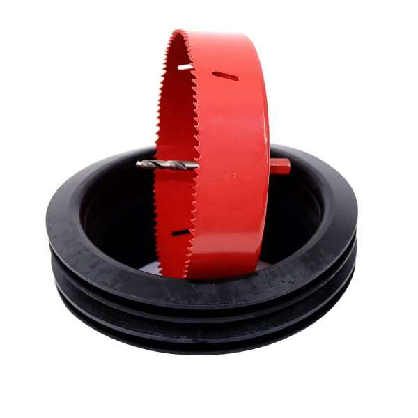 Verbindungs- und Montageset - Lochsäge und 2 Gummilippendichtungen DN160