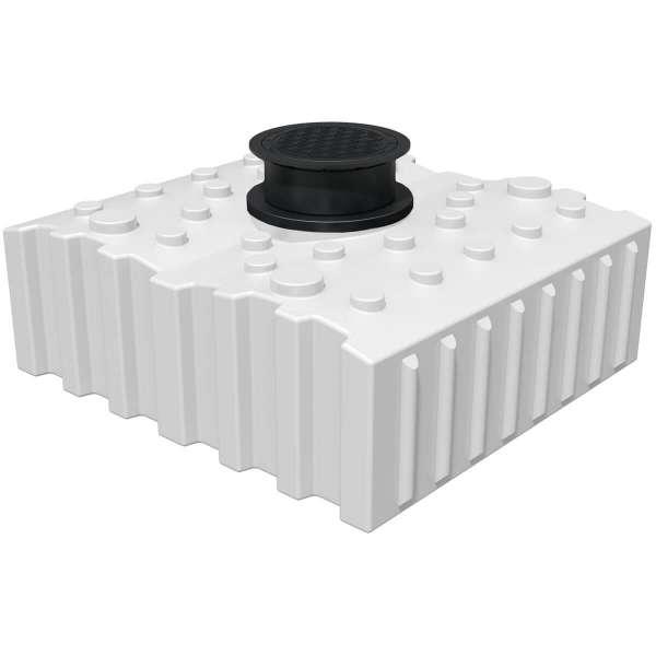 AQa.Line Trinkwasser-Flachtank 4000L inkl. Abdeckung