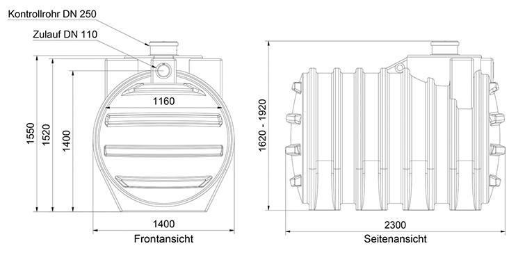 6000 l abwassertank system f kalientank abflusslose. Black Bedroom Furniture Sets. Home Design Ideas