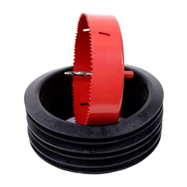 Montageset - Lochsäge und 3 Gummilippendichtungen DN160