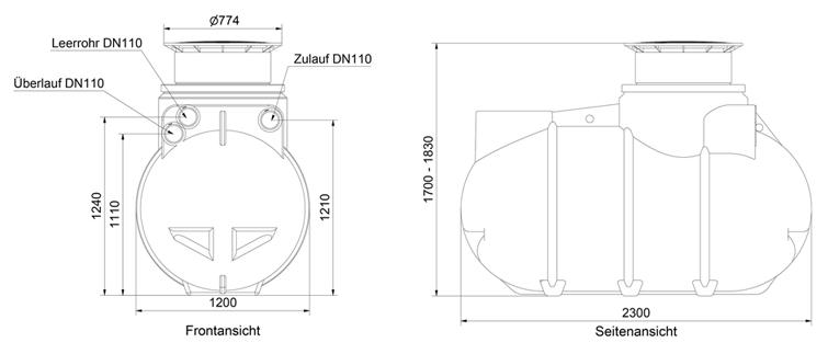 regenwasser komplettanlage garten regenwassertank zisterne 2000 l abdeckung ebay. Black Bedroom Furniture Sets. Home Design Ideas