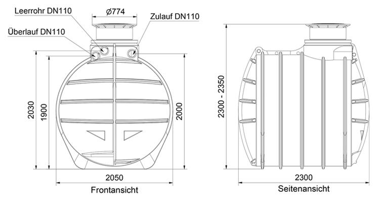 regenwassertank zisterne garten 6000 l inkl abdeckung. Black Bedroom Furniture Sets. Home Design Ideas
